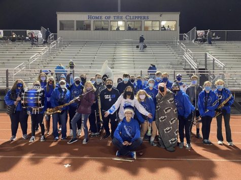 Pep Band members pictured.