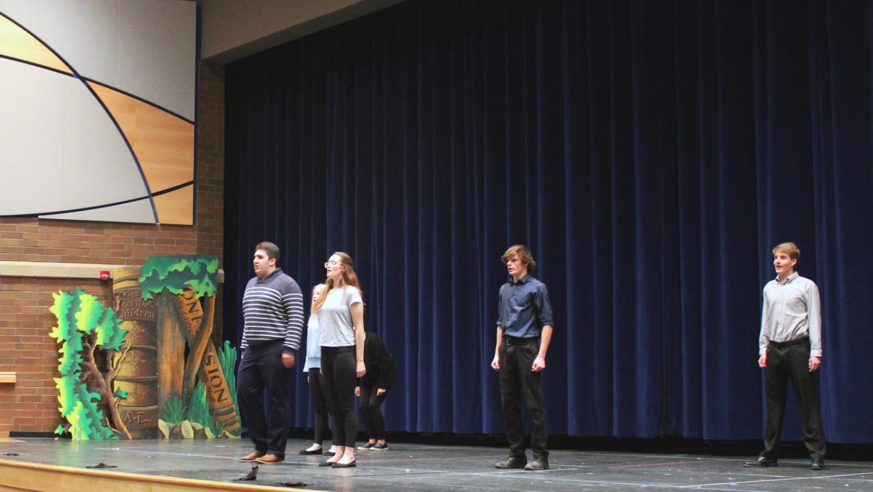 Pictured above: Joseph Lepire, Natalie Stewart, Laurel Preston, Brock Sherman, and Alex Barloon. Photo by Cory Frauenkron.