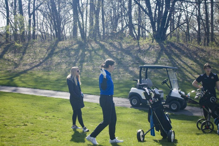Claire Beitz, sophomore,  pictured on the course.